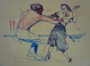 Marco Perroni: ballerini sulla spiaggia.